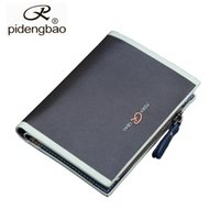 Wholesale Cheap Passport - Wholesale- pidengbao Fashion Men Purse Brand Cheap Designer Men's Wallet New Man Leather Wallet With Zipper Coins Pocket Luxury Mens Wallet