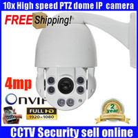 Wholesale Ip Video Camera Zoom - 4MP IP Camera Security 1944P 1080P Mini PTZ Outdoor 360 degree Pan Tilt Speed Dome 10x zoom IP network video surveillance Camera