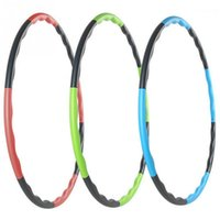 Wholesale Hula Hoops Weights - 80cm Detachable Hula Hoop Portable Fitness Removable Hula Circle Weight Loss Hard Pipe Equipment Waist Slimming Hula Hoops 3 Colors