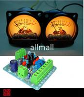 Wholesale Amp Vu - Freeshipping 2pcs Panel VU Meter Warm Back Light Audio Level Amp + One driver board
