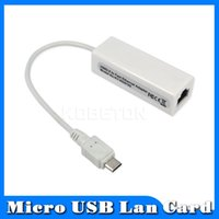 Wholesale Micro Usb Rj45 For Tablet - Wholesale- 2016 Micro USB to Network Card LAN Adapter Ethernet RJ45 10 100Mbps For Android PC Laptop Tablet Windows XP Vista Linux Win 7 8