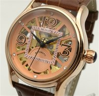 Wholesale Wholesale Cheap Automatic Watches - Automatic Mechanical Watch Factory Direct Sales New Hot Woman With Leather Watches Fashion Brand Hollow Design Cheap Digital Watch