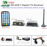 Wholesale Tuner Dvb Auto - 12-24V Car DVB-T Receiver Box HDTV One Tuner MPEG4 MPEG2 With Auto network search function KF-V8003