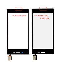 xperia lte al por mayor-Probado buen sensor de trabajo para Sony Xperia M2 Aqua LTE D2403 D2406 Pantalla táctil - Ensamblaje de digitalizador + Herramientas