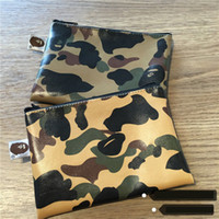 Wholesale New printing yellow ST CAMO camouflage leather zipper wallet color