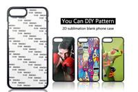 tpu sublimation iphone fall großhandel-2D Sublimation TPU PC Gummi leere Fall für iphone x 10 8 7 6 6 S Plus Galaxy S8 Plus S7 Rand Hinweis 8 Fall