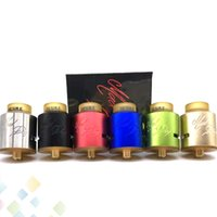 Wholesale E Cigarettes Bottom - Newest Desire Mad Dog RDA Atomizers 24mm Diameter Bottom Style Airflow Desire Mad Dog Tank E Cigarette 6 Colors DHL Free