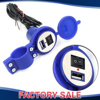 Wholesale Motorcycle Mp3 Audio - Wholesale- Motorcycle Scooter Phone Mp3 Audio USB Charger Socket w  Mounting Base for iPhone 6 5 4 Samsung Galaxy S6 S5 Note 4 3 HTC Sony