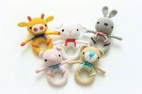 Wholesale Amigurumi Animals - Wholesale- animal love many style Inspired Rattle  Plush Toy  Stuffed Toy   Soft Toy Amigurumi Toy