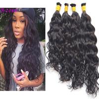 "Wholesale virgin hair for braiding - 100% Virgin Brazilian Water Wave Human Hair Bulk Wet and Wavy Human Hair for Braiding 10""-28"" Full and Soft"