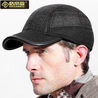 Wholesale Earmuffs For Men - 2017 Autumn Winter cap with earmuffs Baseball caps snapback hats Cap for men and women 005