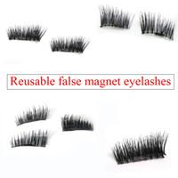 Wholesale under eyelashes resale online - Hot Magnetic Eye Lashes D Mink Reusable False Magnet Eyelashes Extension d eyelash extensions magnetic eyelashes makeup DHL Ship