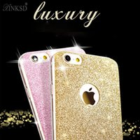 Wholesale Thinnest Sell Phones - Ultra Thin Fashion Bling Shining Glitter Soft TPU Silicone Phone Case Slim Cover For iphone 7 6 6S Plus 6S 5S Hot Sell