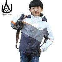 Wholesale Cheap Boys Coats - Wholesale- 2016 Children Snow Jacket Windstopper Skiing Winter Coat Cheap Outdoor Sport Ski Jacket Boy Girls