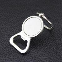 diy gümüş anahtarlıklar toptan satış-Bira Şişe Açacağı Anahtar Yüzükler Gümüş DIY 25mm Cam Cabochon Anahtarlıklar için Alaşım Mutfak Araçları Erkek Hediyeler Takı Toptan