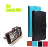 Wholesale Touch Pen For Lumia - Original PU Leather Case Cover for Microsoft Lumia 540 Cell Phone Holster + Touch Pen