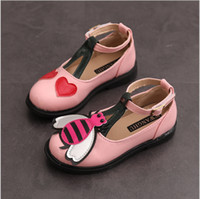 Wholesale Big Bottoms Girl - 2017 summer new girl shoes fashion bees princess shoes big children students soft bottom Korean children's shoes