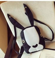 Wholesale Small Ears Cartoons - Casual Designer Backpacks For Women Rabbit ears Double Shoulder Bags Girls Brand Backpacks Woman Backpack Fashion and leisure rucksack