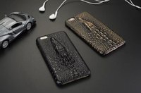 Wholesale Designer Leather Iphone Cases - 2016 Fashion 3D Designer Crocodile Pattern Leather Phone case For Apple iPhone 7 4.7inch Luxury Phone Back Cover capa
