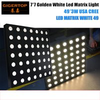 Wholesale 49 led - TIPTOP LED MATRIX WHITE 49 Golden Color Warm White USA CREE 3W Lamp Beam Effect 7x7 Slim Matrix Light Background Effect Light