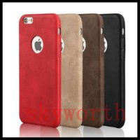 Wholesale Retro Cell Phone Covers - Slim Retro luxury Leather PU Back Case For iphone 7 6 6S Plus Samsung Galaxy S6 S7 Edge LG G5 Cell Phone Covers