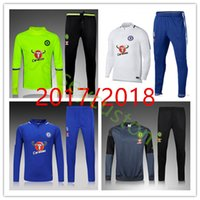 Wholesale Nylon Pant Suit - 17 18 Chelsea Survetement HAZARD,DIEGO COSTA,OSCAR training suit 16-17 tracksuits tight pants 2017 2018 sportswear 2016 chelsea tracksuit