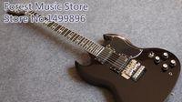 Wholesale Sg Black - Custom Shop Tony Lommi SG Gloss Black Electric Guitar Floyd Rose Tremolo Bridge EMG Pickups Iron Cross Pearl Fingerboard Inlay
