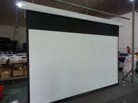 Wholesale China Factory directly sales quot Motorized Tab tensioned Screen with Acoustically Transparent Woven Fabric