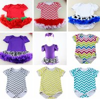 INS Summer Infant Ruffle Rompers Toddler Girls Chevron Principessa Baby Bodysuits Tutu Gonna Infant Neonato Tuta Tuta Baby Bodysuit