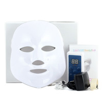 Wholesale Electric Face Skin - 3 7 Colors Light Photon Electric LED Facial Mask Skin PDT Skin Rejuvenation Anti Acne Wrinkle Removal Therapy Beauty Salon