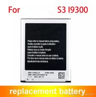 Wholesale Galaxy S3 High Capacity Battery - Battery For Samsung Galaxy S3 I9300 2100mAh EB-L1G6LLU Replacement High Capacity