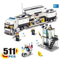 Wholesale Kazi Educational Toys - KAZI 6727 Police Command Vehicle Building Blocks SWAT Truck 511 Pcs Bricks Educational Toys For Children Birthday Gift
