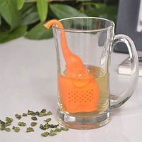 Wholesale Grade Mug - Silicone Elephant Shape Mug Cup Tea Strainer Filter Loose Leaf Herb Tea Infuser Pure Soft Strainer With Food Grade Make Tea Bag Filter