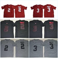 Wholesale Combat Breathable - Blackout #2 Jalen Hurts Gridiron Gray #3 Ridley Pro Combat Alabama Crimson Tide College Stitched Jerseys 2017 New Style Jersey Free Shipping