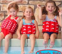 Wholesale Girls Swimwear Year - 2017 Fancy Floating Swimwear Float Swimsuit With Adjustable Buoyancy 15 Patterns For 1-9 years Baby Girls Boys Swimwear Bathing Suit Q0912