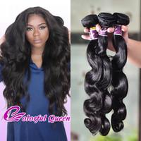 Wholesale Cheap Colorful Weaves - Cheap 3 Pcs Peruvian Hair Bundle Deals Body Wave Human Hair Weave Colorful Queen Peruvian Soft Wet and Wavy Human Hair Bundles 8-30Inch