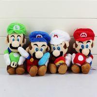 "Wholesale Cute Luigi Plush - Wholesale- 4Styles Cute Game Boy Super Mario Bros Luigi Mario Plush Dolls Collectible Soft Stuffexd Toys For Babies Kids Girls Boys 8"" 20cm"