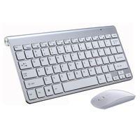 dizüstü bilgisayar kombinasyonları toptan satış-K108 Yüksek Kalite Ultra Ince Kablosuz klavye Fare 2.4G klavye Fare Combo ve PC Laptop için 2.4G USB Alıcısı Tv KUTUSU