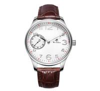 reloj de correo al por mayor-Cinturón de reloj mecánico de gran apertura manualmente en la cadena de reloj clásico para hombres de negocios Baolilong marca relojes bolso de correo