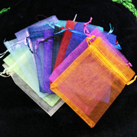 Wholesale Wedding Favours Bags - 500 Piece 4x 6 inches Organza Gift Bags Wedding Favour Bags Jewelry Pouches, Pack of 100 Random Color 5Pack Lot