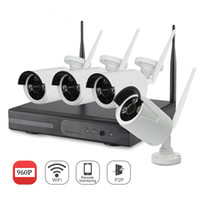 Wholesale Home Video Surveillance System Kits - YSCAM 4CH 1080P HDMI NVR 4PCS 960P IR Outdoor Weatherproof P2P CCTV Wireless IP Camera Security System Surveillance Kit without HDD
