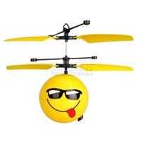 Wholesale Kids Mini Helicopters - Newest Infrared Induction Flying Ball Excellent Outdoor Mini Flying Ball Helicopter Toys Handy Toy Drone Funny Toy For Kids