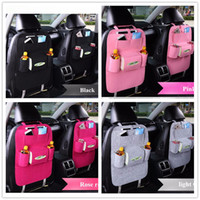Wholesale wholesale pockets - 7 Colors New Auto Car Seat Organizer Holder Multi-Pocket Travel Storage Bag Hanger Backseat Organizing Box