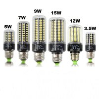 e14 lâmpada led cree 5w venda por atacado-E27 LEVOU Milho Lâmpada Luz 220 V 110 V 3.5 W 5 W 7 W 9 W 12 W 15 W E14 Lâmpada LED SMD5736 Sem Luzes Flicker