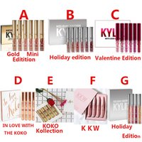 Wholesale Purple Lip Gloss - Kylie Jenner Lip Gloss Cosmetics KKW Birthday Valentine Holiday IN LOVE WITH THE KOKO KOLLECTION Limited Edition 4 6 set