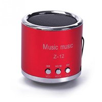 Wholesale laptop for cheap wholesale - Wholesale- 2016 Cheap FM Portable Speaker Z12 Mini Subwoofer Music Column Speakers Support USB Micro SD TF Card Mp3 4 For iphone Laptop PC