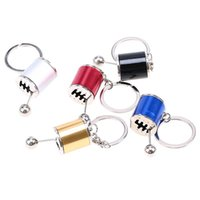 Wholesale modified gear resale online - 2016 new Colors Car Auto Gear Shift Keychains Car Fans Gear Shifter Stick Key Chain Fob Cylinder Modified Turbo Wave Key Chain Ring