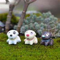 ingrosso ornamenti da giardino cane-Nuovo 1PCS Resin Little Sitting Dog Ornamenti Accessorio Craft figurine in resina Miniature per la decorazione del giardino di casa