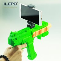 Wholesale Console 3d - 10PCS!! AR Game Gun Console with AR Games App Bluetooth Compatible With iPhone Android Smart Phone With Stand Holder 3D AR VR Games