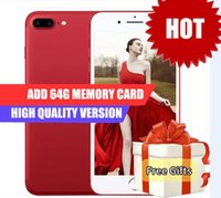 Wholesale Goophone I5s India - Goophone I7 Plus Fingerprint Real 4G Ram 32G Rom add 64Gb Card Real 4g Lte Octa Core 1920*1080 screen 16MP VS Goophone I6 Plus Goophone I5s
